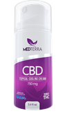 Medterra CBD Topical Cooling Cream 100 ml in 3.4 fl oz pump bottle 750mg strength hemp plus more
